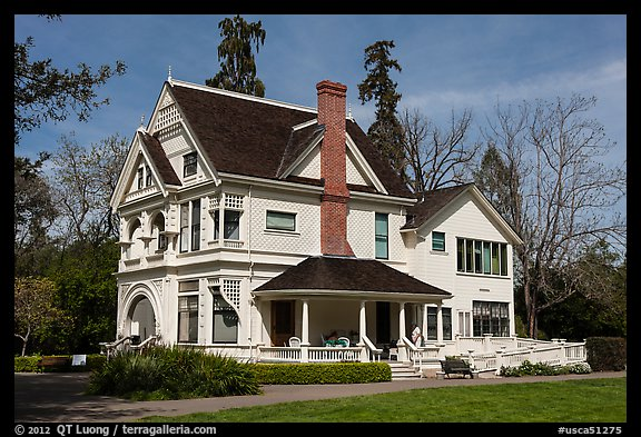 Victorian house, Ardenwood historic farm regional preserve, Fremont. California, USA (color)