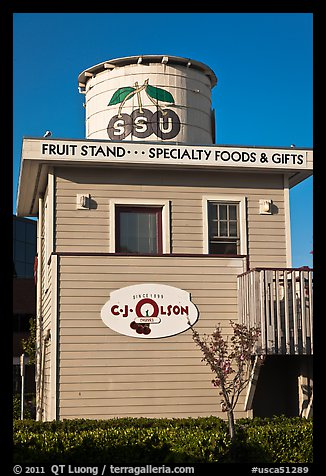 Historic fruit stand, Sunnyvale. California, USA (color)