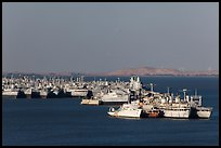 Ghost fleet in Suisin Bay. Martinez, California, USA (color)