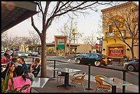 Outdoor tables on main street, Campbell. California, USA ( color)