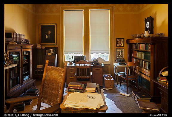 Office of John Muir, John Muir National Historic Site. Martinez, California, USA (color)
