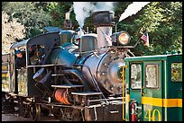 Roaring Camp and Big Trees Narrow-Gauge Railroad, Felton. California, USA (color)