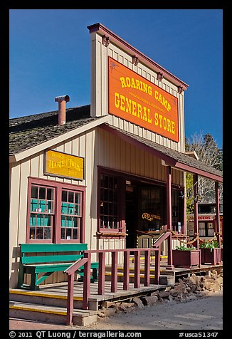 Roaring Camp general store, Felton. California, USA (color)