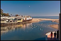 Creek and beach. Capitola, California, USA ( color)