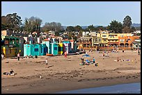 Capitola beach and village. Capitola, California, USA (color)