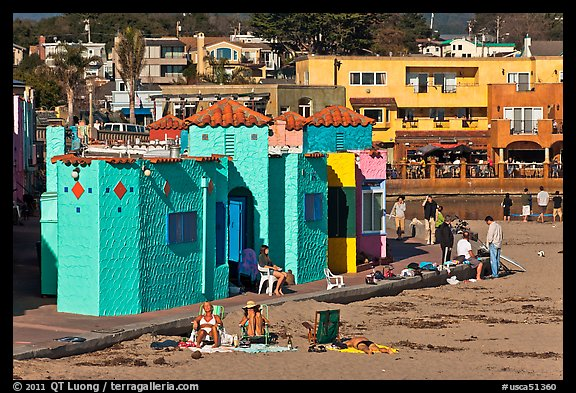 Colorful Historic Venetian Hotel Capitola California Usa