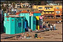 Colorful historic Venetian hotel. Capitola, California, USA ( color)