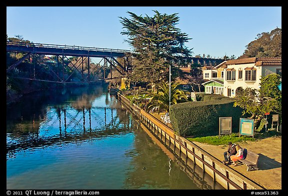 Soquel Creek. Capitola, California, USA (color)