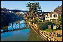 Soquel Creek. Capitola, California, USA ( color)