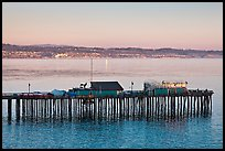 Capitola pier at sunset. Capitola, California, USA (color)