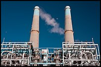 Natural gas powered electricity generation plant, Moss Landing. California, USA (color)