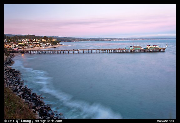 Fishing Pier at sunset. Capitola, California, USA (color)