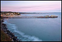 Fishing Pier at sunset. Capitola, California, USA