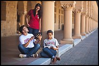 Students on the Quad. Stanford University, California, USA ( color)