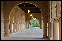 Main Quad hallway. Stanford University, California, USA (color)