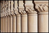 Column detail, Main Quad. Stanford University, California, USA (color)