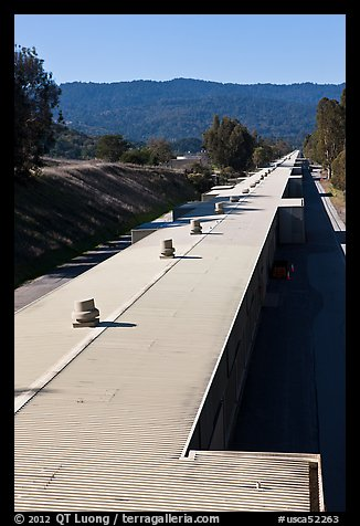 Two-mile long linear accelerator. Stanford University, California, USA (color)