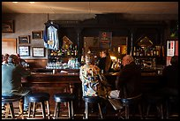 Bar, Duarte Tavern, Pescadero. San Mateo County, California, USA (color)