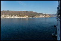 Avalon seen from cruise ship, Catalina Island. California, USA (color)