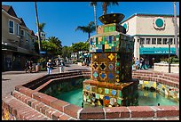 Fountain, Avalon Bay, Santa Catalina Island. California, USA ( color)