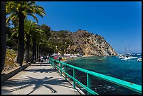 Waterfront promenenade, Avalon Bay, Catalina. California, USA ( color)