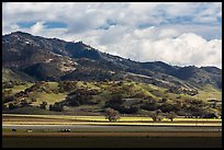 Agricultural lands and hills near King City. California, USA (color)