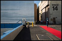 Red carpet and Blue Sky Tank, Paramount Pictures Studios. Hollywood, Los Angeles, California, USA ( color)