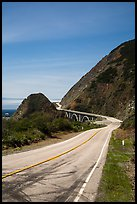 Highway 1 curve. Big Sur, California, USA (color)