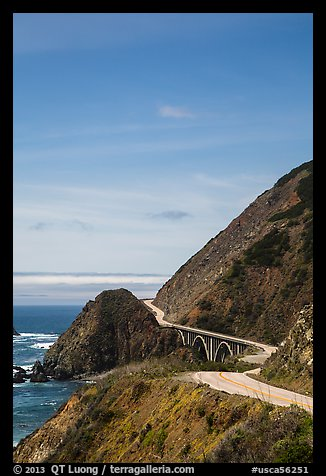 Winding Highway 1. Big Sur, California, USA (color)
