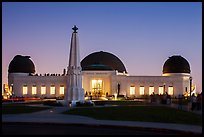 Griffith Observatory at dusk. Los Angeles, California, USA ( color)
