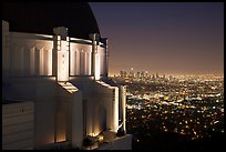 Griffith Observatory and downtown skyline at night. Los Angeles, California, USA ( color)