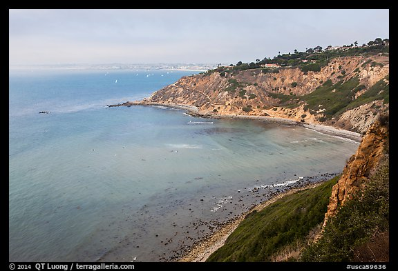 Cove seen from bluffs, Rancho Palo Verdes. Los Angeles, California, USA (color)