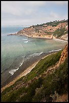 Cove and bluffs, Rancho Palo Verdes. Los Angeles, California, USA ( color)