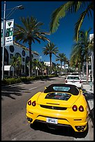 Ferrari car parked on Rodeo Drive. Beverly Hills, Los Angeles, California, USA ( color)