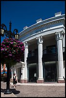 Woman shops near Rodeo Drive. Beverly Hills, Los Angeles, California, USA ( color)