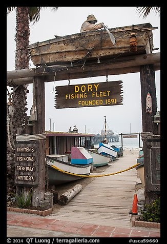 Picture photo gate to dory fishing fleet newport beach for How much is a fishing license in california
