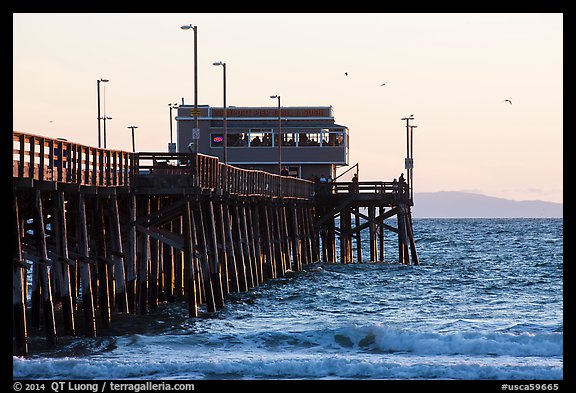 Newport Pier in late afternoon. Newport Beach, Orange County, California, USA (color)