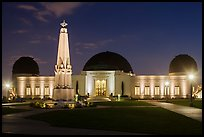 Griffith Observatory at night. Los Angeles, California, USA ( color)
