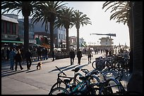 Plaza next to pier in late afternoon, Hermosa Beach. Los Angeles, California, USA ( color)