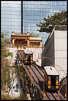 Angels Flight tram. Los Angeles, California, USA ( color)