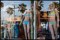 Beachwear in storefront, Manhattan Beach. Los Angeles, California, USA ( color)