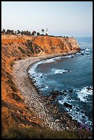 Point Vicente Lighthouse and coastline. Los Angeles, California, USA ( color)