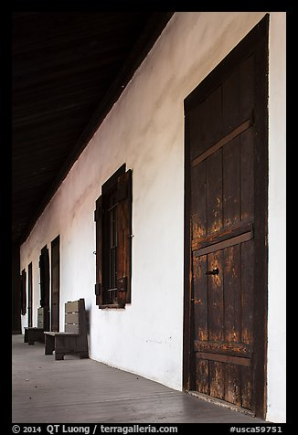 Avila Adobe doors. Los Angeles, California, USA (color)
