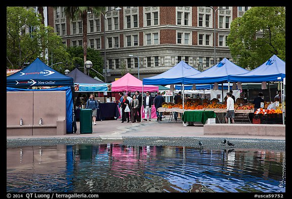 Farmers Market on Pershing Square. Los Angeles, California, USA (color)
