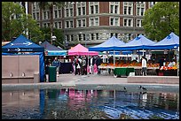 Farmers Market on Pershing Square. Los Angeles, California, USA ( color)
