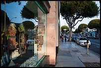 Storefront and downtown street. Santa Monica, Los Angeles, California, USA ( color)