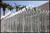 Urban Light by Chris Burden in front of LACMA. Los Angeles, California, USA ( color)