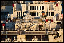 Detail of Queen Mary stern. Long Beach, Los Angeles, California, USA ( color)
