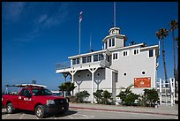 Historic Lifeguard station. Long Beach, Los Angeles, California, USA ( color)