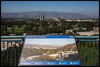 Scenic view sign, Universal Studios. Universal City, Los Angeles, California, USA ( color)